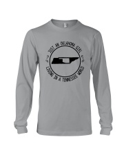 OKLAHOMA GIRL LIVING IN TENNESSEE WORLD Long Sleeve Tee thumbnail