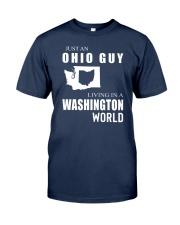 JUST AN OHIO GUY IN A WASHINGTON WORLD Classic T-Shirt thumbnail