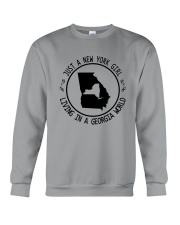 NEW YORK GIRL LIVING IN GEORGIA WORLD Crewneck Sweatshirt thumbnail