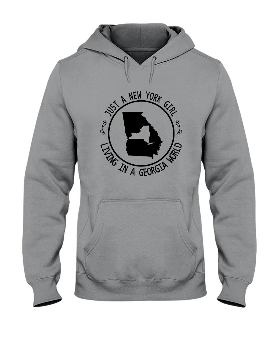 NEW YORK GIRL LIVING IN GEORGIA WORLD Hooded Sweatshirt