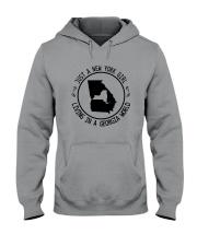 NEW YORK GIRL LIVING IN GEORGIA WORLD Hooded Sweatshirt front