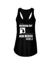 JUST A MICHIGAN GUY IN A NEW MEXICO WORLD Ladies Flowy Tank thumbnail