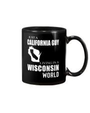 JUST A CALIFORNIA GUY IN A WISCONSIN WORLD Mug thumbnail