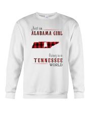 JUST AN ALABAMA GIRL IN A TENNESSEE WORLD Crewneck Sweatshirt thumbnail