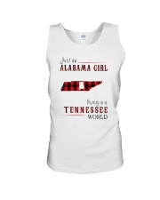 JUST AN ALABAMA GIRL IN A TENNESSEE WORLD Unisex Tank thumbnail