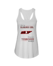 JUST AN ALABAMA GIRL IN A TENNESSEE WORLD Ladies Flowy Tank thumbnail