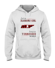JUST AN ALABAMA GIRL IN A TENNESSEE WORLD Hooded Sweatshirt front