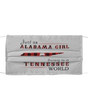 JUST AN ALABAMA GIRL IN A TENNESSEE WORLD Cloth face mask thumbnail