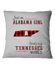 JUST AN ALABAMA GIRL IN A TENNESSEE WORLD Square Pillowcase thumbnail
