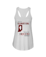 JUST AN ILLINOIS GIRL IN AN INDIANA WORLD Ladies Flowy Tank thumbnail
