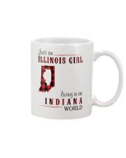 JUST AN ILLINOIS GIRL IN AN INDIANA WORLD Mug thumbnail