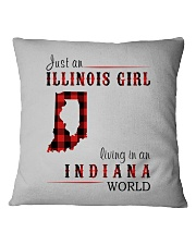JUST AN ILLINOIS GIRL IN AN INDIANA WORLD Square Pillowcase thumbnail