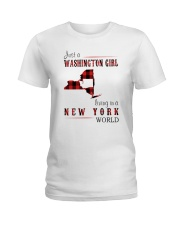 JUST A WASHINGTON GIRL IN A NEW YORK WORLD Ladies T-Shirt thumbnail