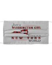 JUST A WASHINGTON GIRL IN A NEW YORK WORLD Cloth face mask thumbnail