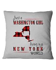JUST A WASHINGTON GIRL IN A NEW YORK WORLD Square Pillowcase thumbnail