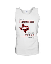 JUST A TENNESSEE GIRL IN A TEXAS WORLD Unisex Tank thumbnail