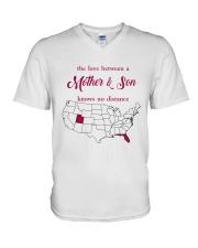 FLORIDA UTAH THE LOVE MOTHER AND SON V-Neck T-Shirt thumbnail