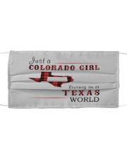 JUST A COLORADO GIRL IN A TEXAS WORLD Cloth face mask thumbnail