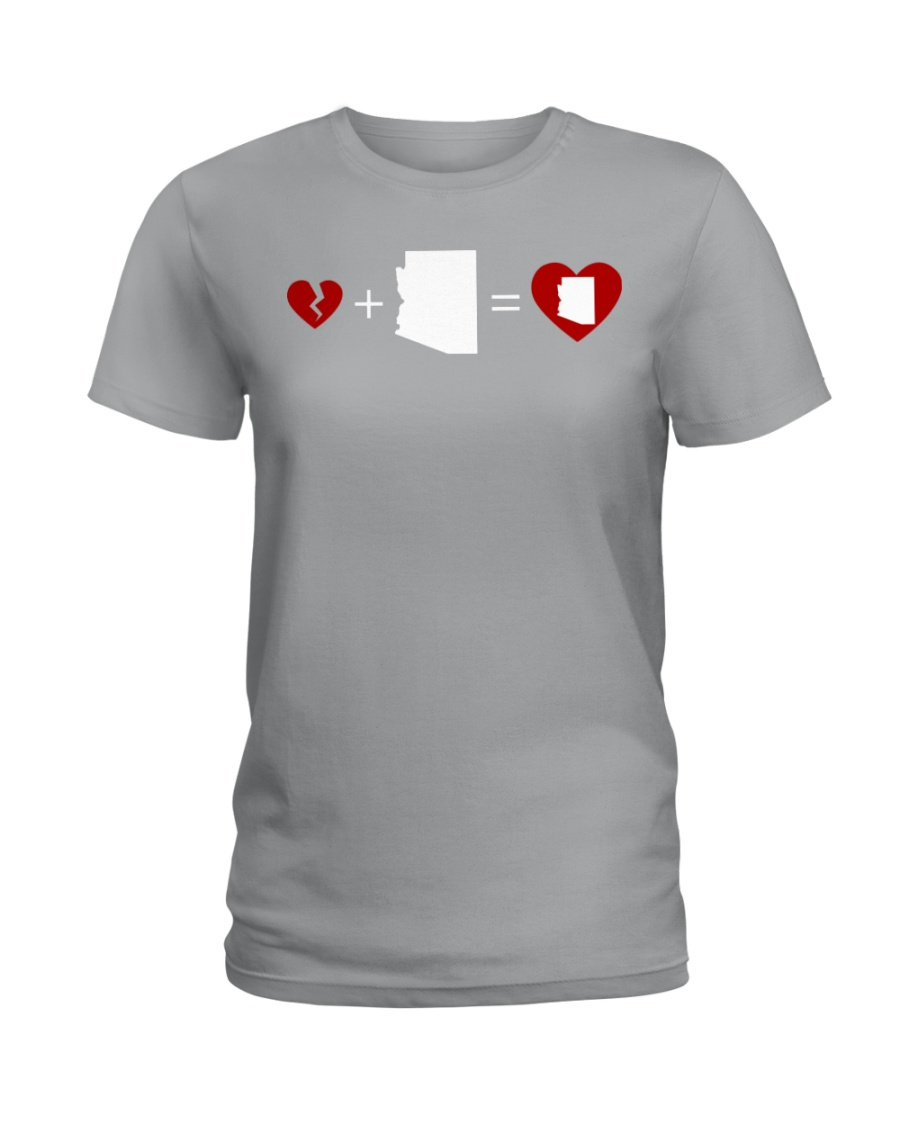 HEART AND MAP ARIZONA Ladies T-Shirt