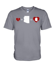 HEART AND MAP ARIZONA V-Neck T-Shirt thumbnail