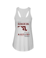 JUST A MICHIGAN GIRL IN A MARYLAND WORLD Ladies Flowy Tank thumbnail
