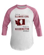 JUST AN ILLINOIS GIRL IN A WASHINGTON WORLD Baseball Tee thumbnail