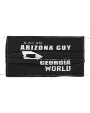 JUST AN ARIZONA GUY IN A GEORGIA WORLD Cloth face mask thumbnail