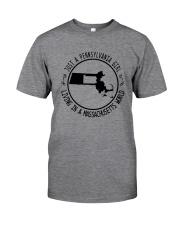 PENNSYLVANIA GIRL LIVING IN MASSACHUSETTS WORLD Classic T-Shirt thumbnail