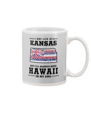 LIVE IN KANSAS BUT I'LL HAVE HAWAII IN MY DNA Mug thumbnail