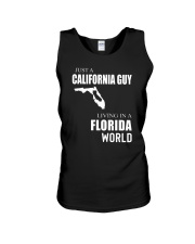 JUST A CALIFORNIA GUY IN A FLORIDA WORLD Unisex Tank thumbnail