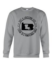 LOUISIANA GIRL LIVING IN PENNSYLVANIA WORLD Crewneck Sweatshirt thumbnail