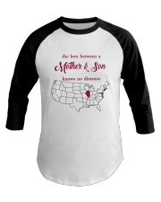 ILLINOIS CONNECTICUT THE LOVE MOTHER AND SON Baseball Tee thumbnail