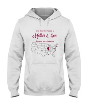 ILLINOIS CONNECTICUT THE LOVE MOTHER AND SON Hooded Sweatshirt thumbnail