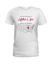 ILLINOIS CONNECTICUT THE LOVE MOTHER AND SON Ladies T-Shirt thumbnail