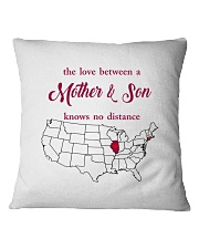 ILLINOIS CONNECTICUT THE LOVE MOTHER AND SON Square Pillowcase thumbnail