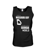 JUST A MISSOURI GUY IN A GEORGIA WORLD Unisex Tank thumbnail