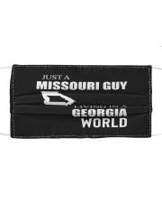 JUST A MISSOURI GUY IN A GEORGIA WORLD Cloth face mask thumbnail
