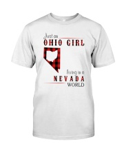 JUST AN OHIO GIRL IN A NEVADA WORLD Classic T-Shirt thumbnail