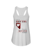 JUST AN OHIO GIRL IN A NEVADA WORLD Ladies Flowy Tank thumbnail