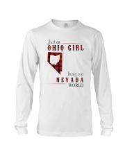 JUST AN OHIO GIRL IN A NEVADA WORLD Long Sleeve Tee thumbnail