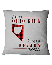 JUST AN OHIO GIRL IN A NEVADA WORLD Square Pillowcase thumbnail