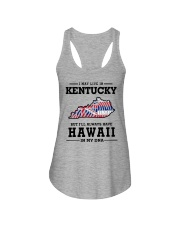 LIVE IN KENTUCKY BUT I'LL HAVE HAWAII IN MY DNA Ladies Flowy Tank thumbnail