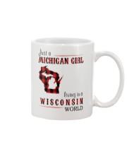 JUST A MICHIGAN GIRL IN A WISCONSIN WORLD Mug thumbnail