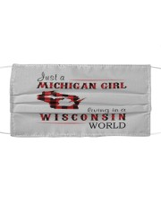 JUST A MICHIGAN GIRL IN A WISCONSIN WORLD Cloth face mask thumbnail