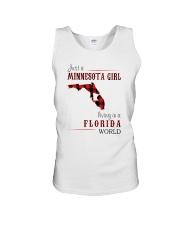 JUST A MINNESOTA GIRL IN A FLORIDA WORLD Unisex Tank thumbnail