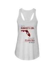 JUST A MINNESOTA GIRL IN A FLORIDA WORLD Ladies Flowy Tank thumbnail