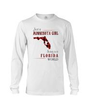 JUST A MINNESOTA GIRL IN A FLORIDA WORLD Long Sleeve Tee thumbnail