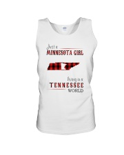 JUST A MINNESOTA GIRL IN A TENNESSEE WORLD Unisex Tank thumbnail