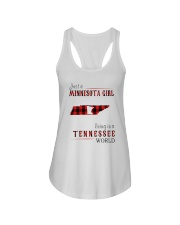 JUST A MINNESOTA GIRL IN A TENNESSEE WORLD Ladies Flowy Tank thumbnail