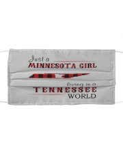 JUST A MINNESOTA GIRL IN A TENNESSEE WORLD Cloth face mask thumbnail